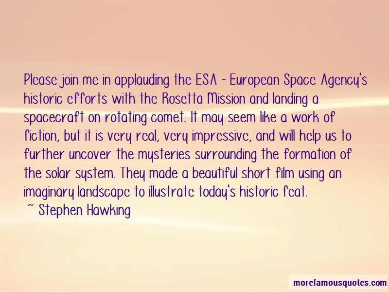 Quotes About The Rosetta Mission
