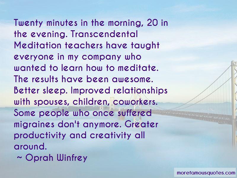 Quotes About Transcendental Meditation