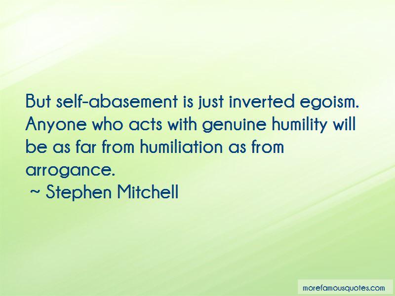 Abasement Quotes