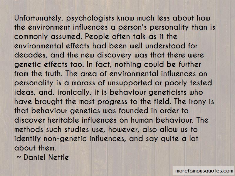 Behaviour Genetics Quotes