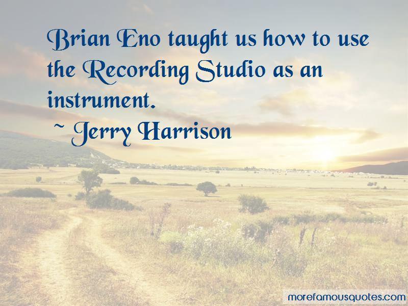 Brian Eno Studio Quotes