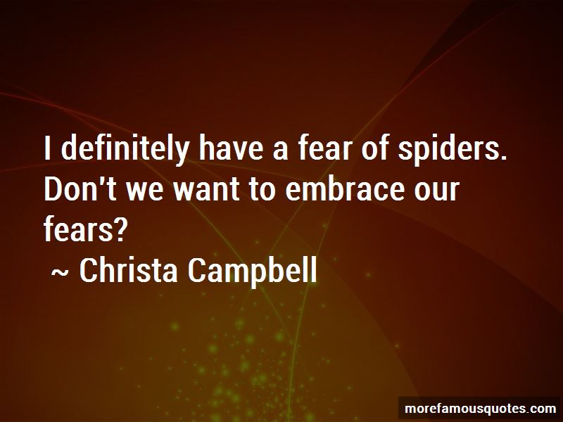 Fear Of Spiders Quotes