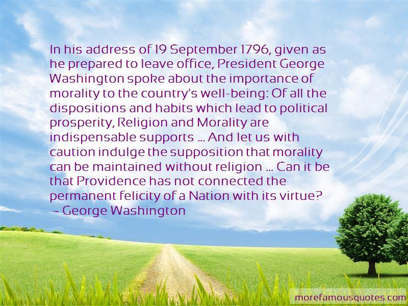 George Washington Providence Quotes