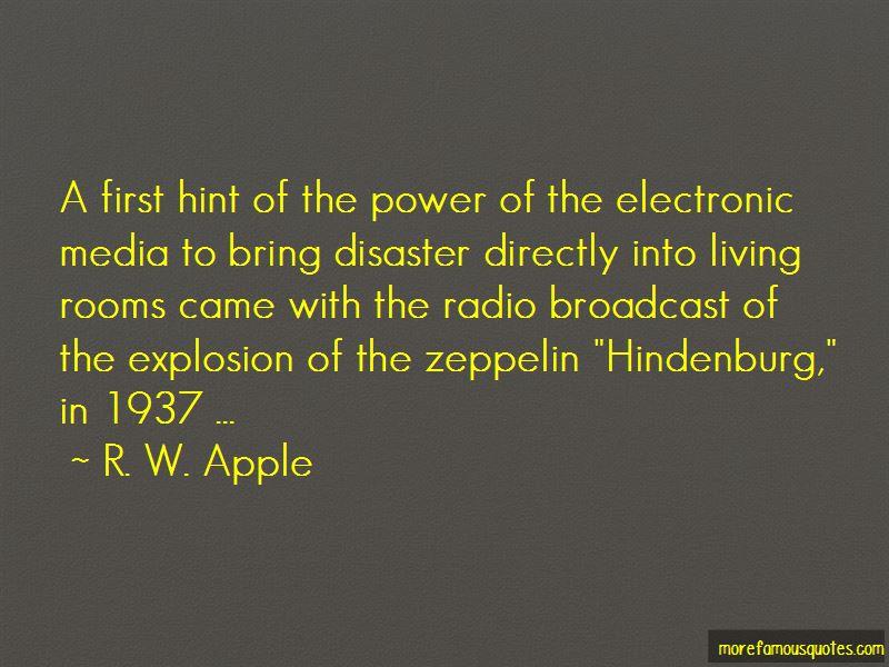 Hindenburg Disaster Quotes
