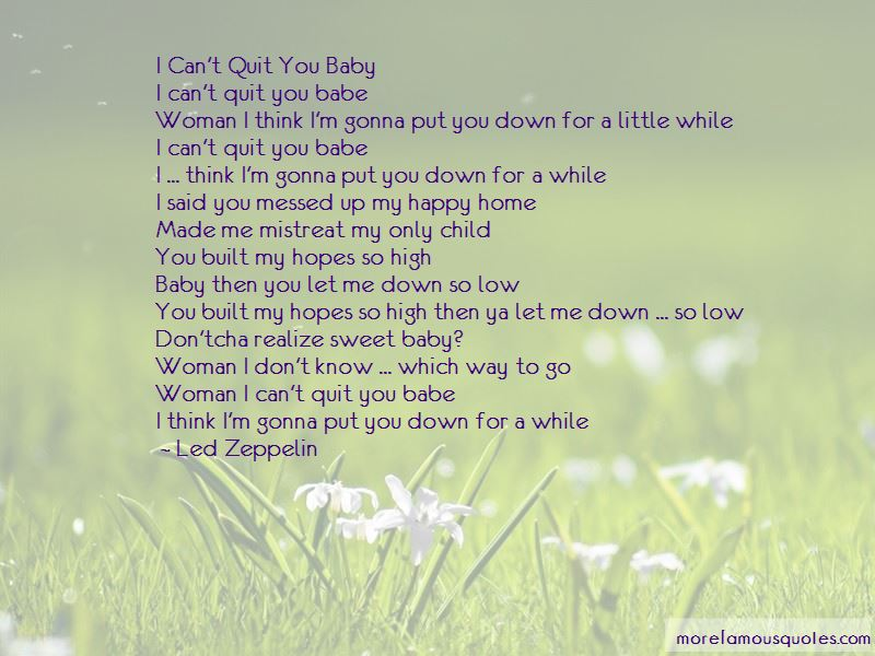 I Can't Quit You Quotes