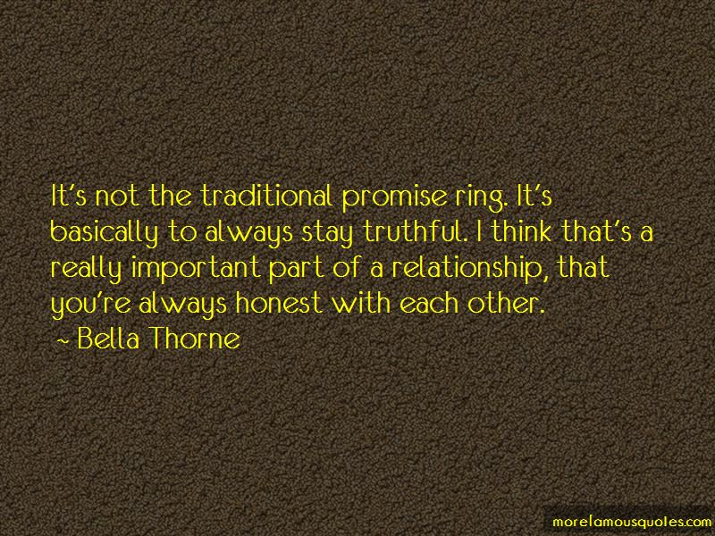Ring quotes promise What To