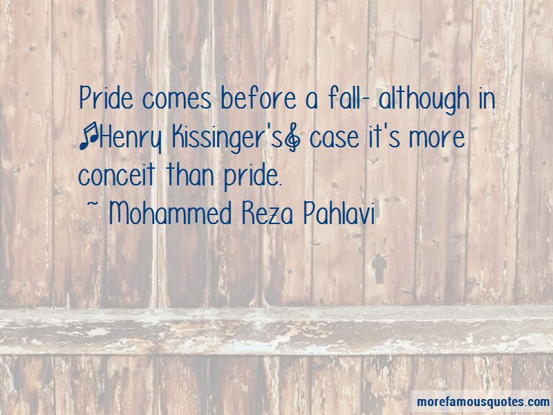 Pride Comes Before The Fall Quotes
