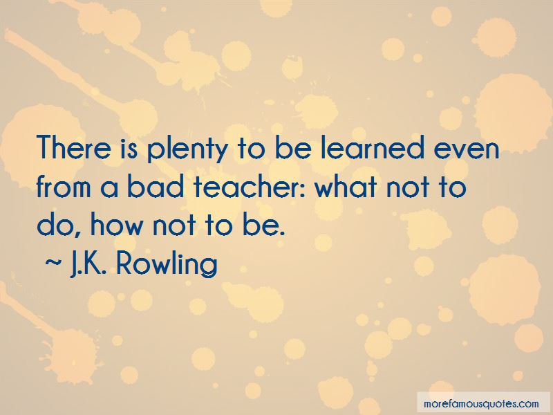 Quotes About A Bad Teacher