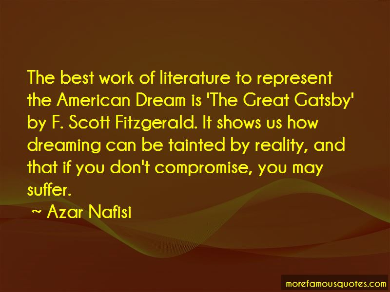 Quotes About American Dream In The Great Gatsby Top 1 American