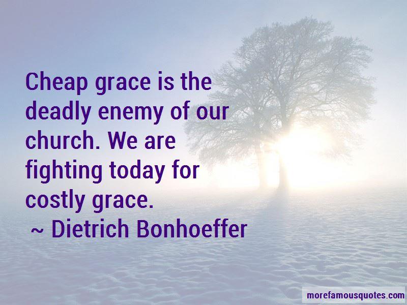 Quotes About Cheap Grace