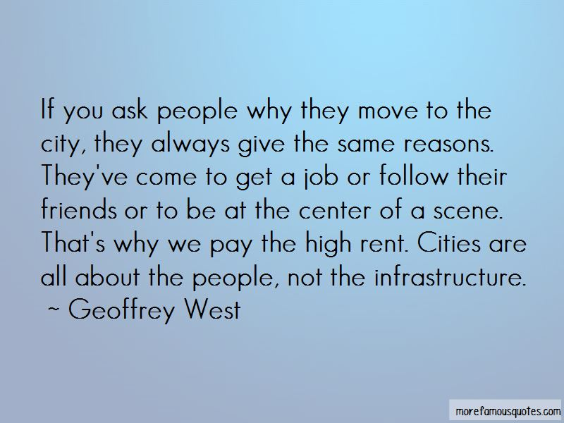 Quotes About City Infrastructure