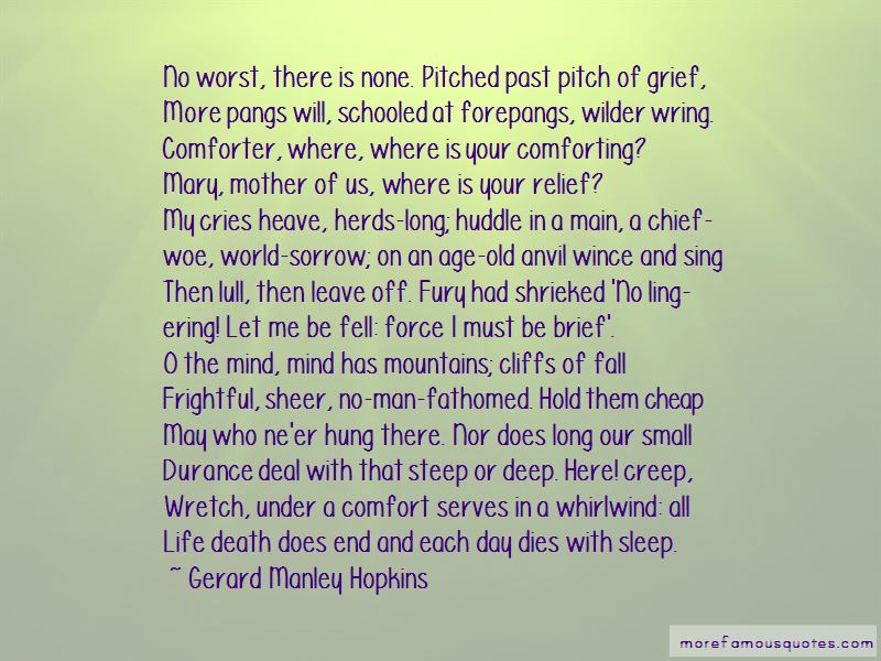 Quotes About Comforting Death