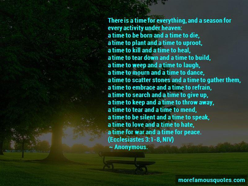 Quotes About Ecclesiastes 3