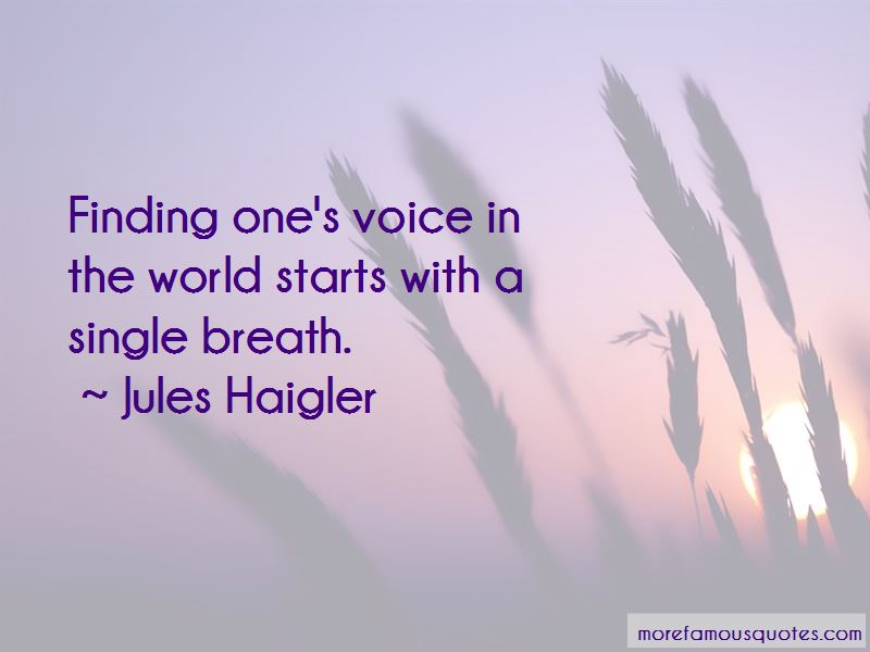 Finding One's Voice Quotes Pictures 3