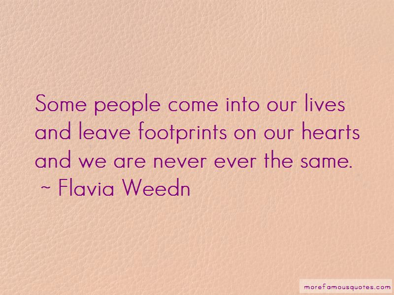 Quotes About Footprints On Our Hearts