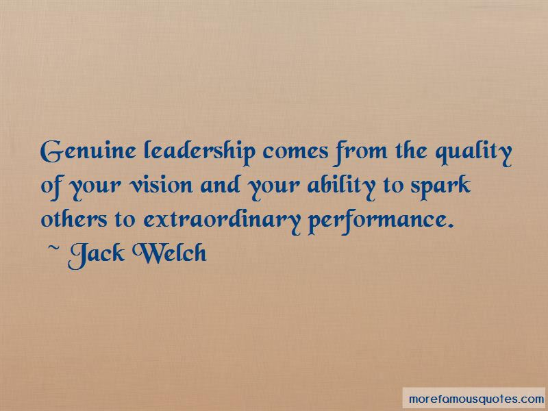 Quotes About Genuine Leadership