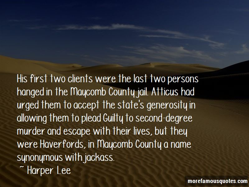 Quotes About Maycomb County Jail