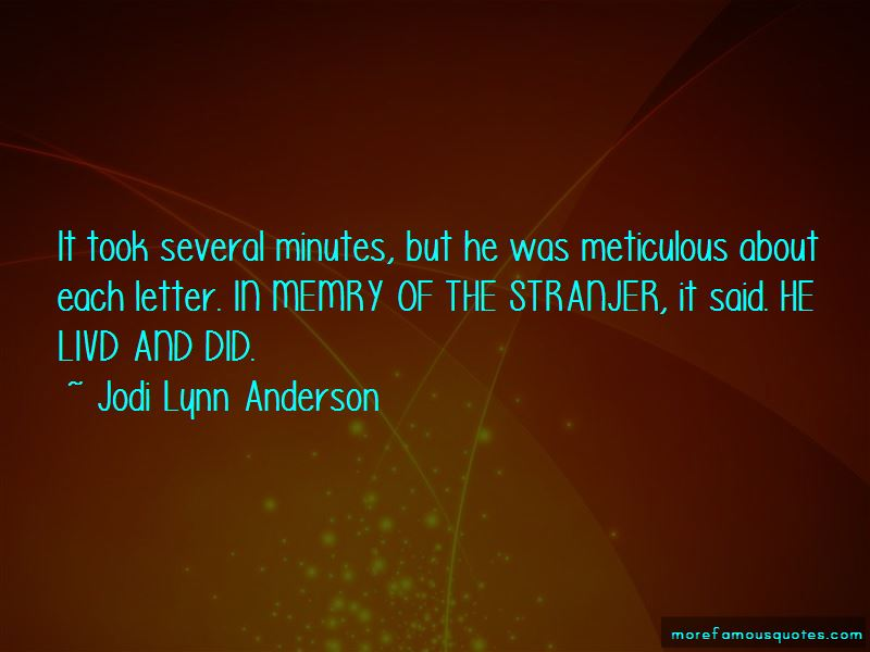 Quotes About Meticulous