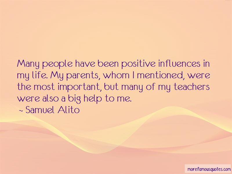 Positive Influences In Life Quotes Pictures 2