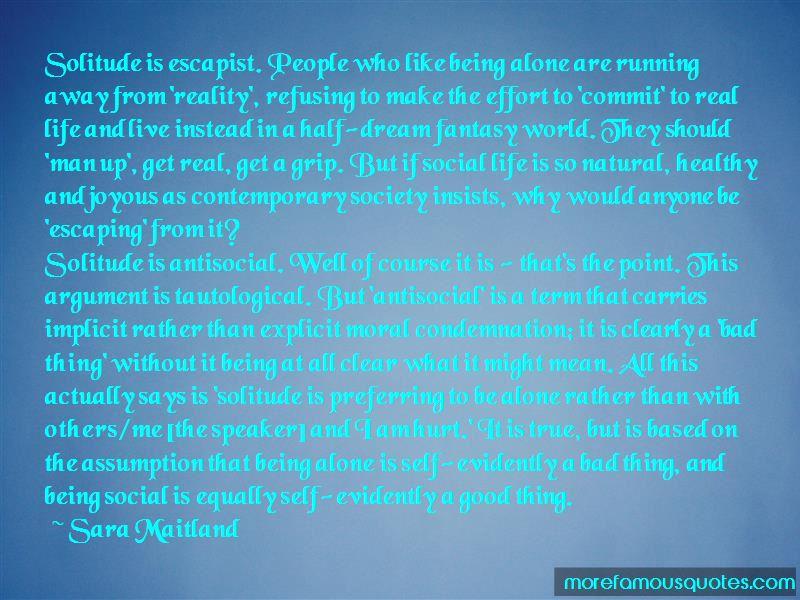 Preferring Solitude Quotes Pictures 2