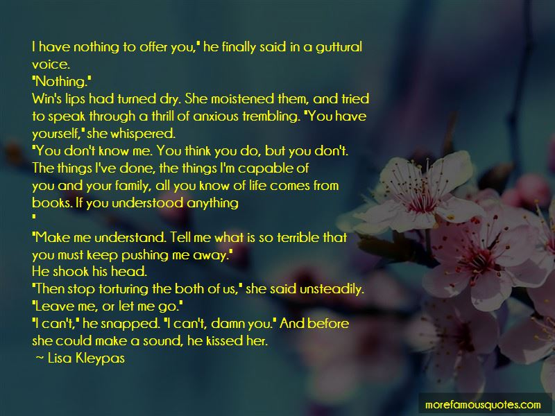 Quotes About Pushing Yourself Away