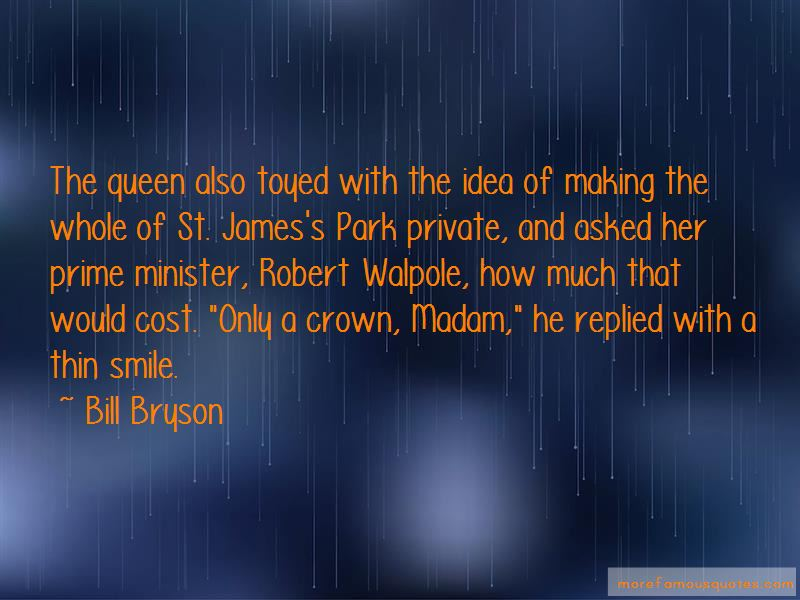 Quotes About Robert Walpole
