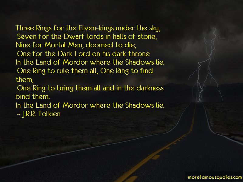 Quotes About The Ring From Lord Of The Rings