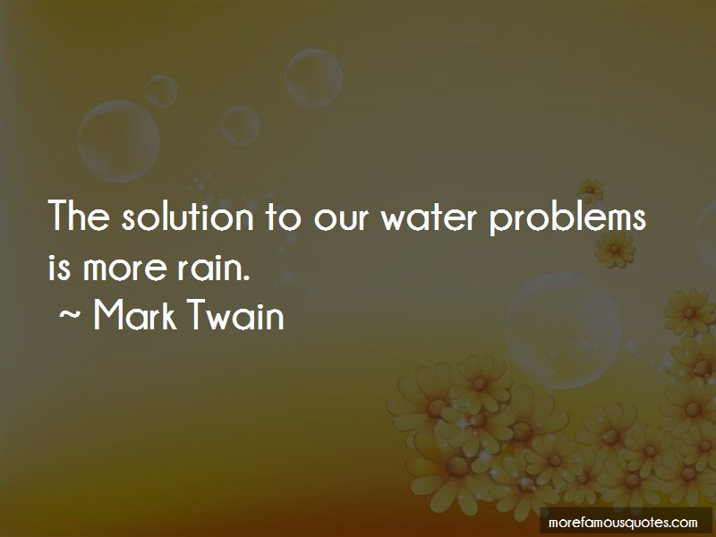 Water Problems Quotes Pictures 2