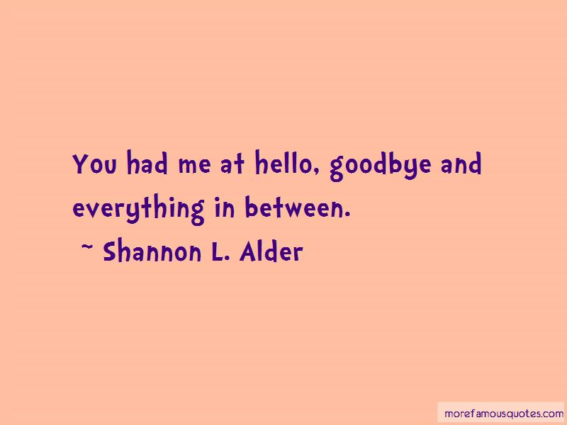 Quotes About You Had Me At Hello