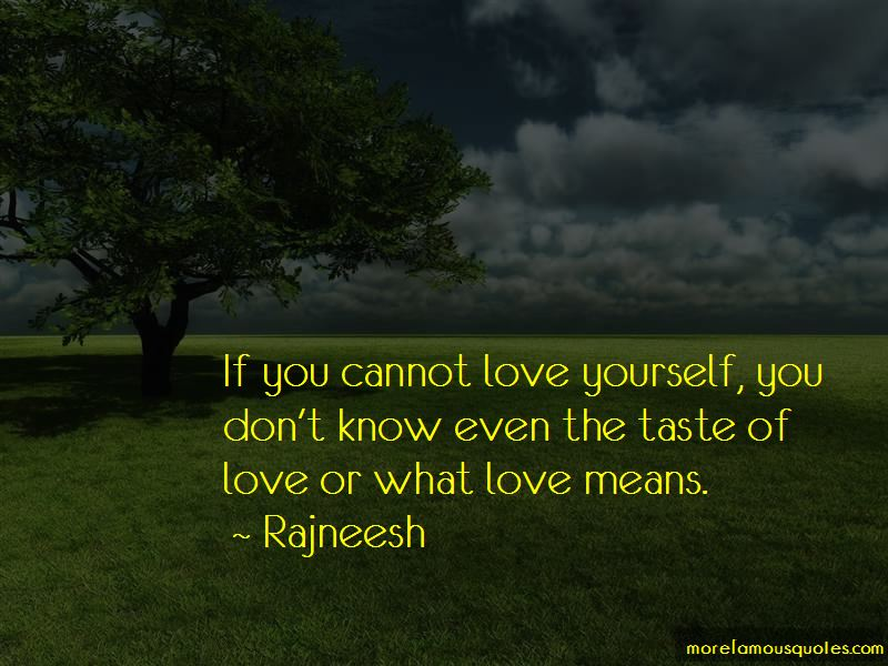 The Taste Of Love Quotes