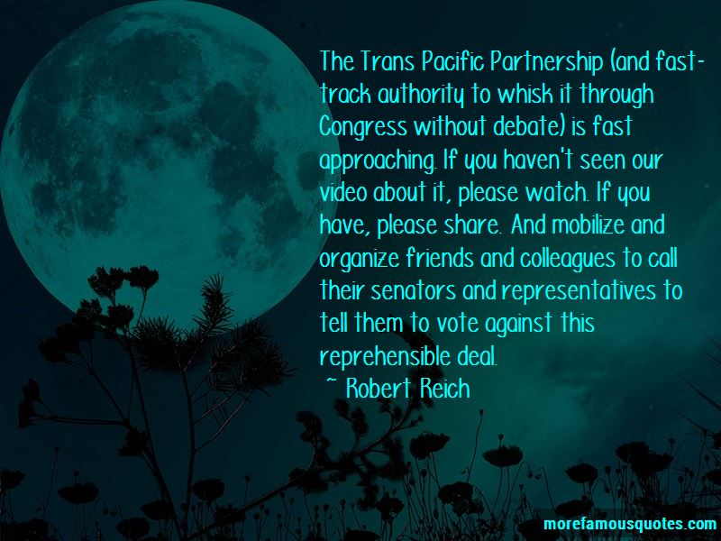 Trans Pacific Partnership Quotes