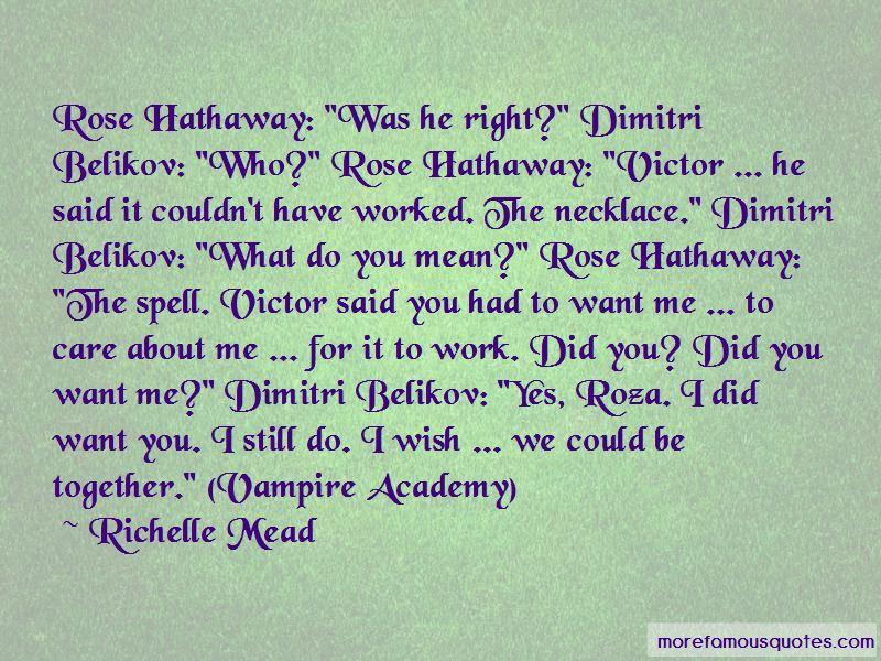 Vampire Academy Dimitri Belikov Quotes