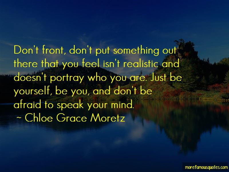 You Portray Yourself Quotes