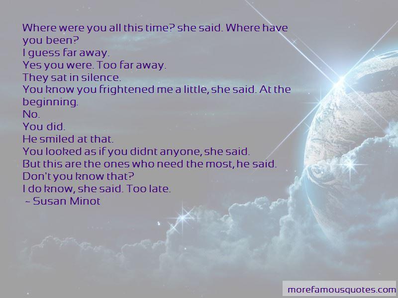 You So Far Away Quotes
