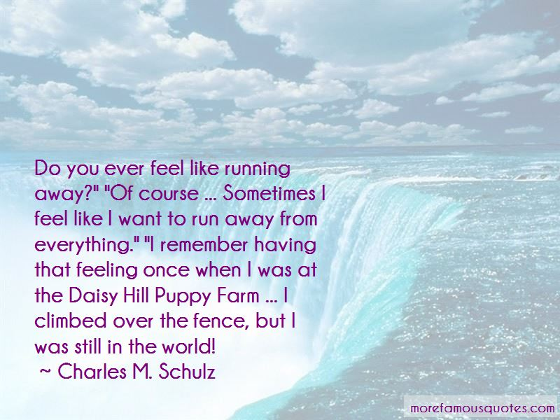 Do You Ever Feel Like Running Away Quotes