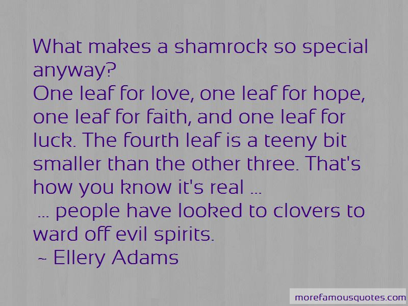 Faith Hope Love Luck Quotes