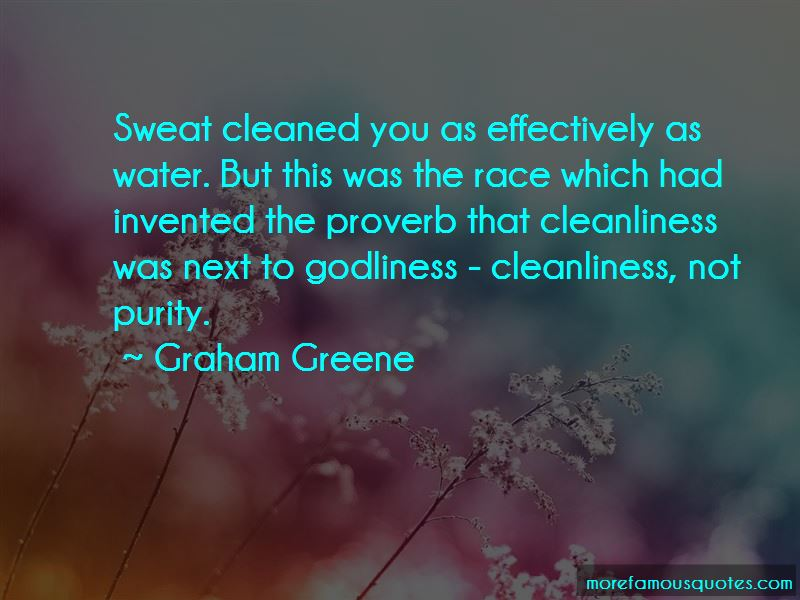 Godliness Cleanliness Quotes