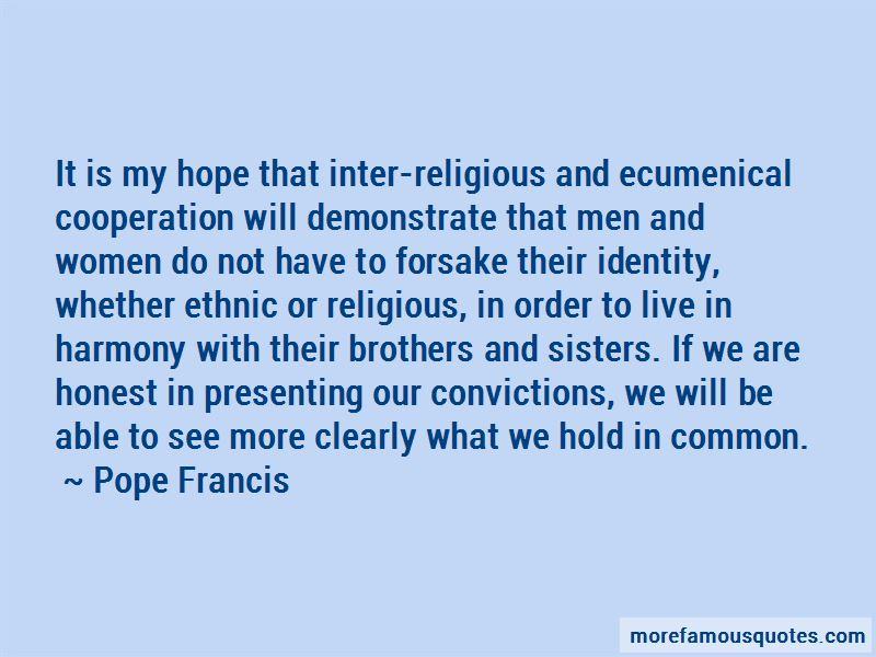 Inter Religious Harmony Quotes