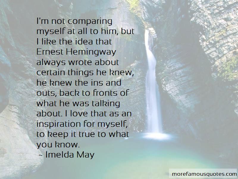 comparing myself