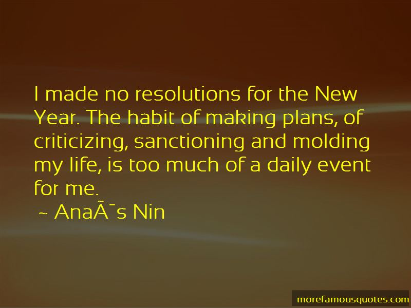 No Resolutions Quotes