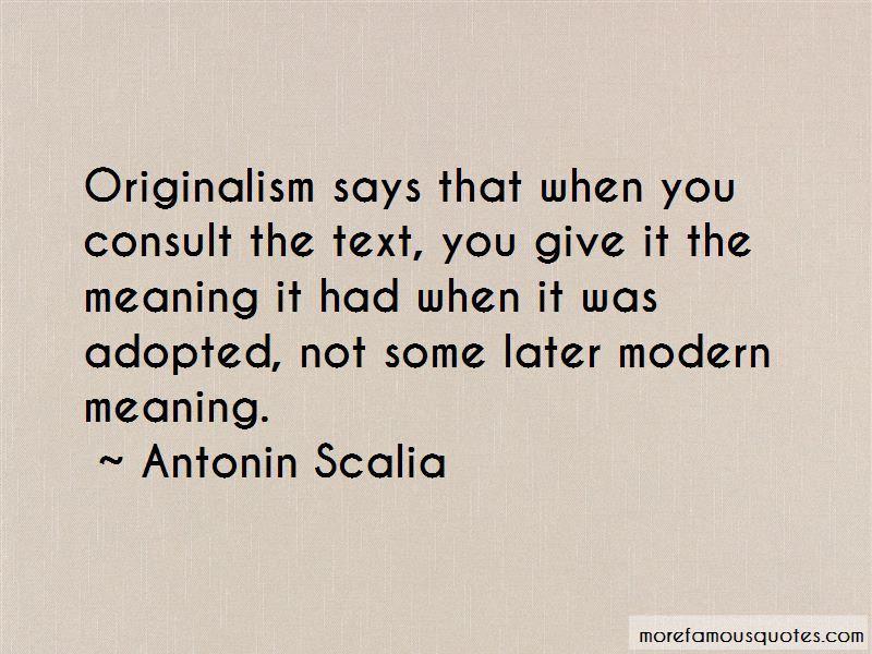 Originalism Quotes