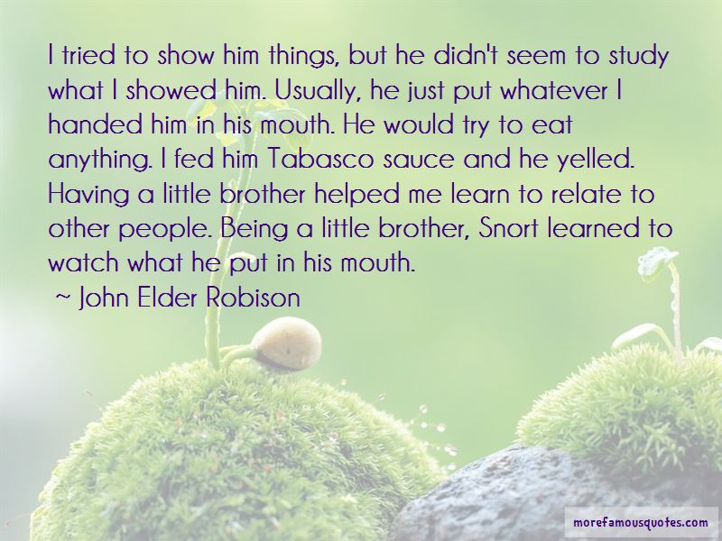 Quotes About A Little Brother: top 52 A Little Brother ...