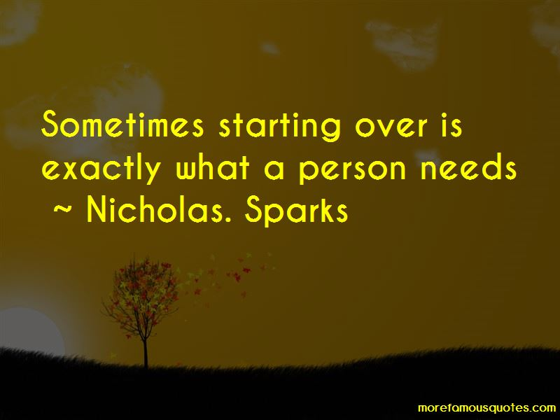 Quotes About A Starting Over