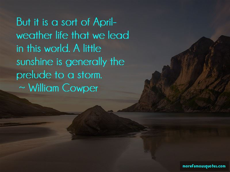 Quotes About April Weather