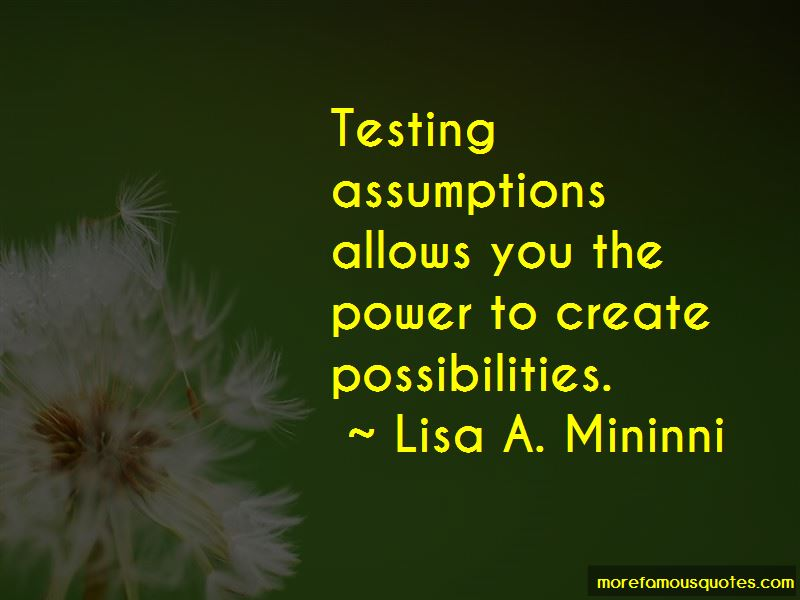 Quotes About Assumptions