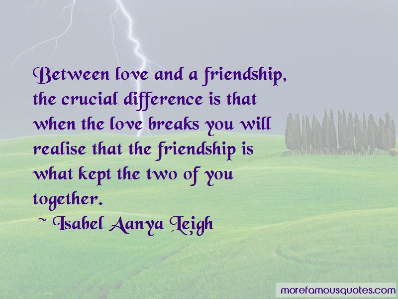 Difference Between Friendship And Love Quotes Pictures 3