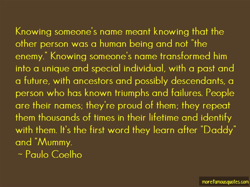 Quotes About Knowing Someone's Name