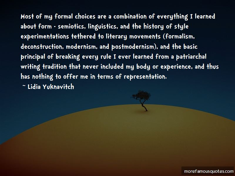 Quotes About Literary Movements