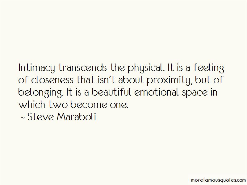 Quotes About Physical Closeness