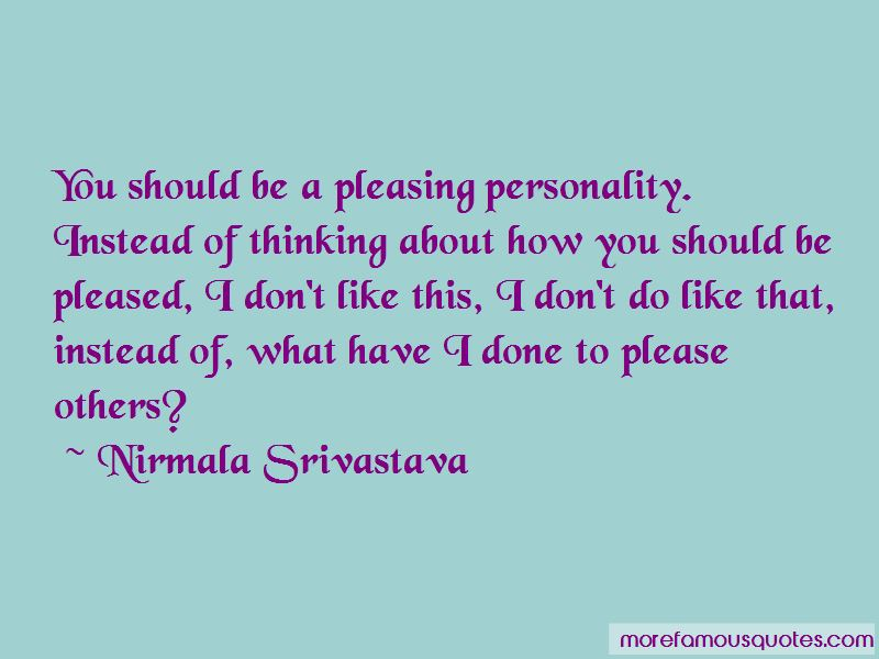 Quotes About Pleasing Personality